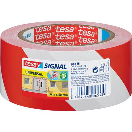 tesa Signal Markierungs- und Warnklebeband Universal, rot/