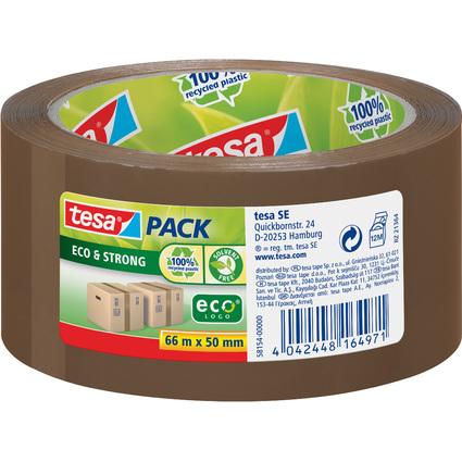 tesapack Verpackungsklebeband Eco & Strong, 50 mm x 66 m