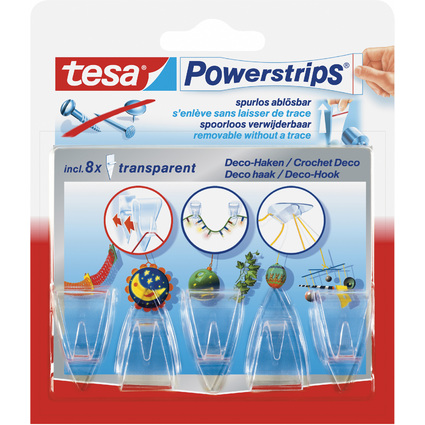 tesa Powerstrips DECO-HAKEN, Haltekraft: max. 0,2 kg