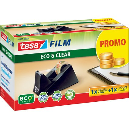 tesa Tischabroller Eco & Clear + tesa Film Eco & Clear