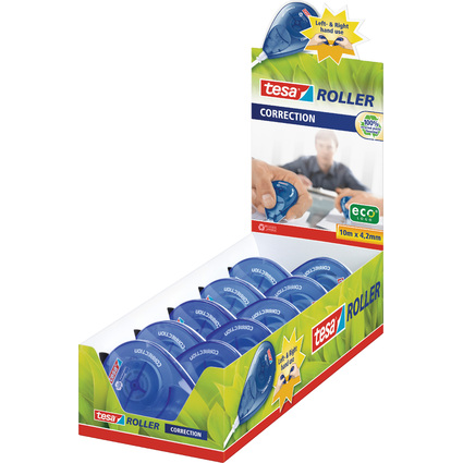 tesa Einweg Korrekturroller Sideway Roller, Theken-Display