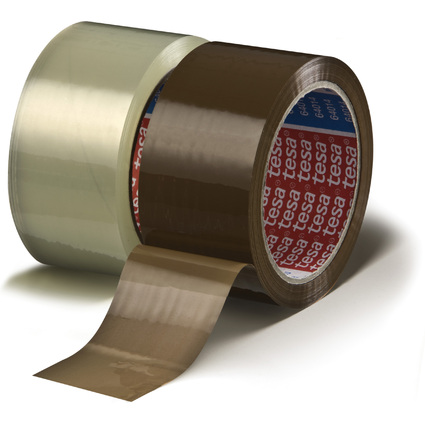 tesa Verpackungsklebeband 64014, 50 mm x 66 m, transparent