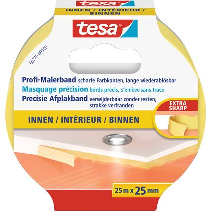 tesa Maler Krepp Precision Indoor Abdeckband, 25 mm x 25 m