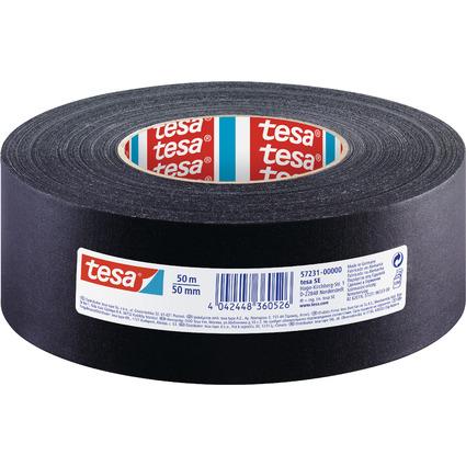 tesa Gewebeband, 50 mm x 50 m, schwarz