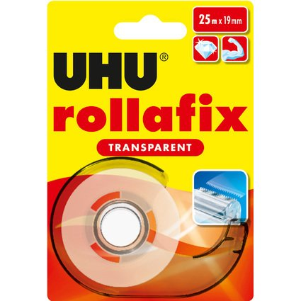 UHU Klebefilm rollafix transparent, inkl. Handabroller