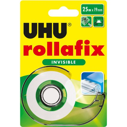 UHU Klebefilm rollafix invisible, inkl. Handabroller