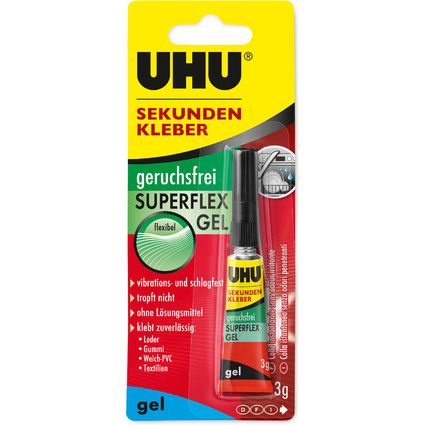 UHU Sekundenkleber SUPERFLEX GEL, 3 g in Tube