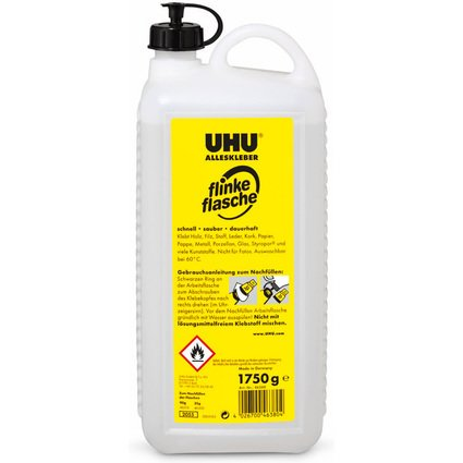 UHU Alleskleber flinke flasche, Nachfüllkanister, 1.750 g