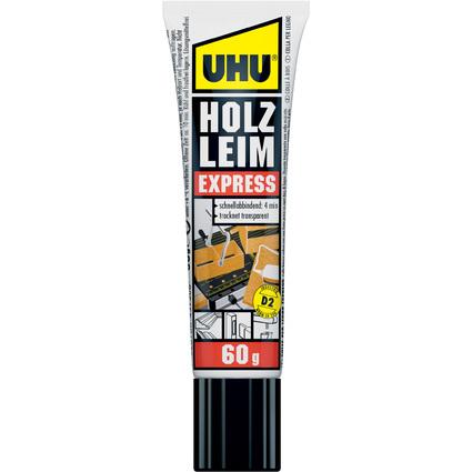 UHU Holzleim Express D2, lösemittelfrei, 60 g Standtube