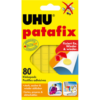 UHU Klebepads patafix, wieder ablösbar, gelb