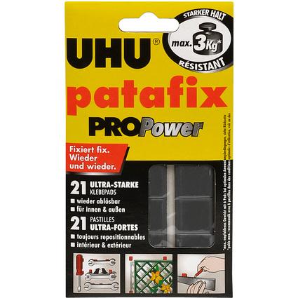 UHU Klebepads patafix PROPower, wieder ablösbar, schwarz