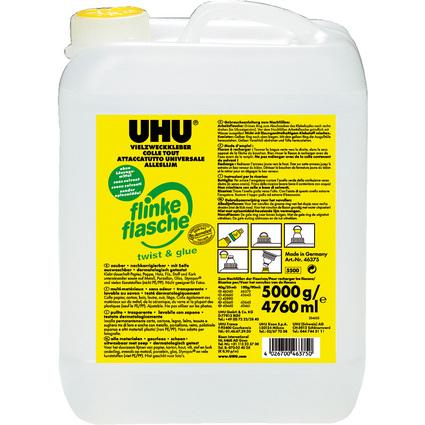 UHU Vielzweckkleber twist & glue, Nachfüllflasche, 5 Kg