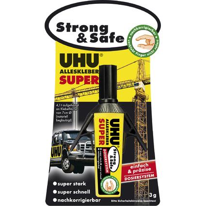 UHU Alleskleber SUPER Strong & Safe Dispenser, 3 g