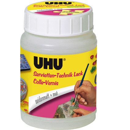 UHU Servietten-Technik-Lack, seidenmatt, Inhalt: 150 ml
