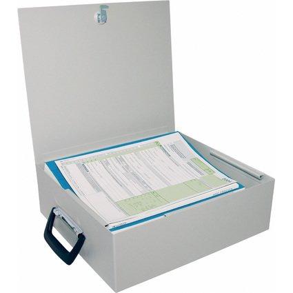 WEDO Ordner-Kassette, mit Koffergriff, aus Stahlblech