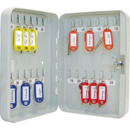 WEDO Schlüsselschrank für 24 Schlüssel, lichtgrau
