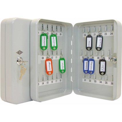 WEDO Schlüsselschrank für 36 Schlüssel, lichtgrau
