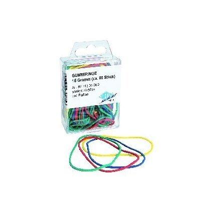 WEDO Gummiringe, farbig sortiert, Größen-Mix
