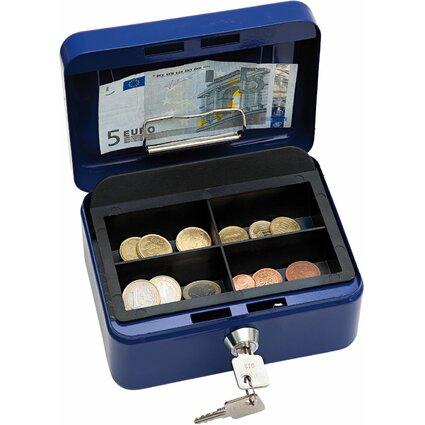 WEDO Geldkassette mit Clip, blau, (B)152 x (T)115 x (H)80 mm