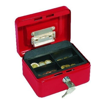 WEDO Geldkassette mit Clip, rot, (B)152 x (T)115 x (H)80 mm
