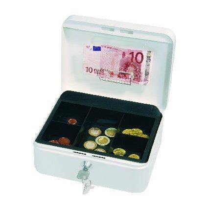 WEDO Geldkassette mit Clip, weiß, (B)200 x (T)160 x (H)90 mm