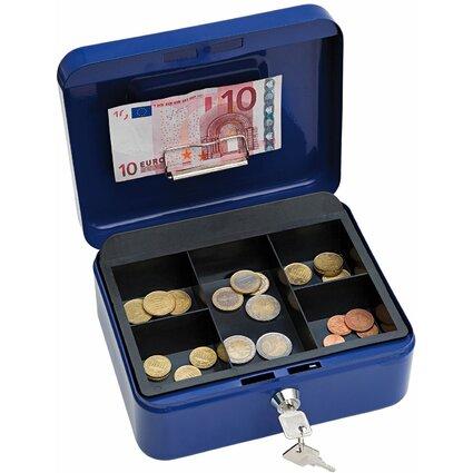 WEDO Geldkassette mit Clip, blau, (B)200 x (T)160 x (H)90 mm