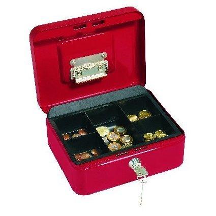 WEDO Geldkassette mit Clip, rot, (B)200 x (T)160 x (H)90 mm