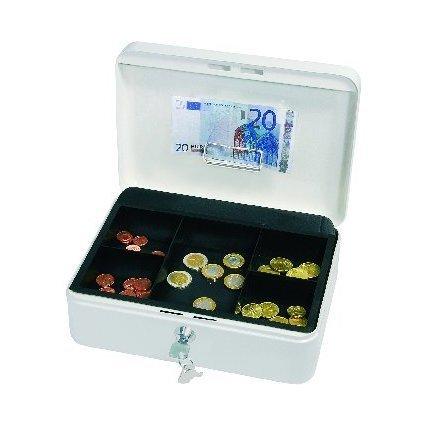 WEDO Geldkassette mit Clip, weiß, (B)250 x (T)180 x (H)90 mm