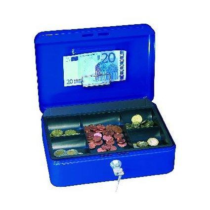 WEDO Geldkassette mit Clip, blau, (B)250 x (T)180 x (H)90 mm