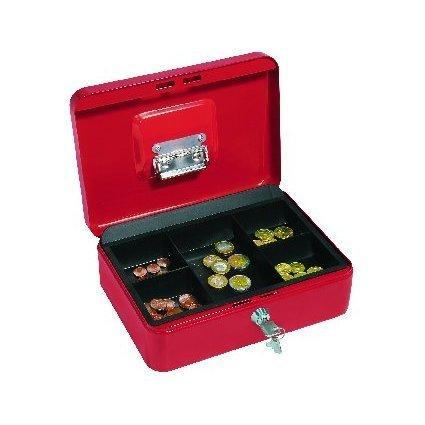 WEDO Geldkassette mit Clip, rot, (B)250 x (T)180 x (H)90 mm