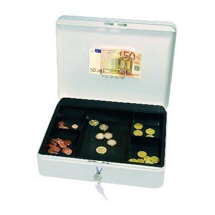 WEDO Geldkassette mit Clip, weiß, (B)300 x (T)240 x (H)90 mm