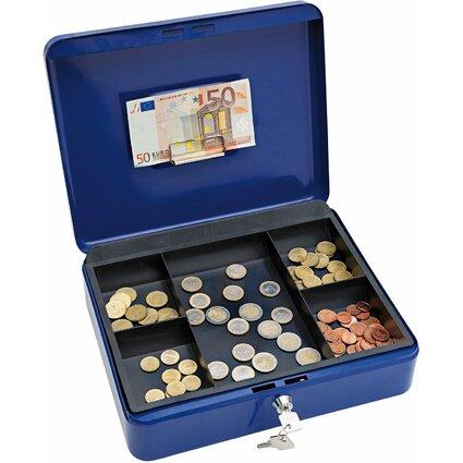 WEDO Geldkassette mit Clip, blau, (B)300 x (T)240 x (H)90 mm