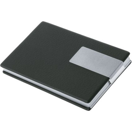 WEDO Visitenkartenbox Good Deal, Aluminium/PVC (schwarz)