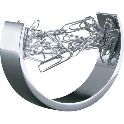 WEDO Klammernspender Bow, Zinklegierung, silber