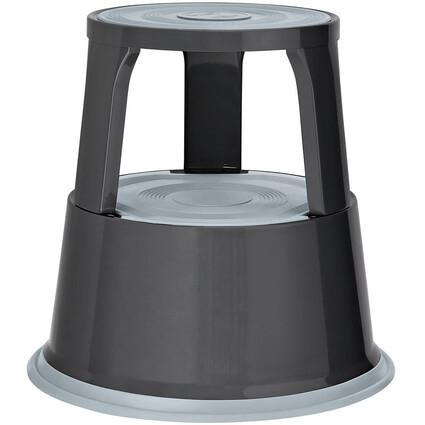 WEDO Rollhocker, aus Metall, grau / RAL 7012