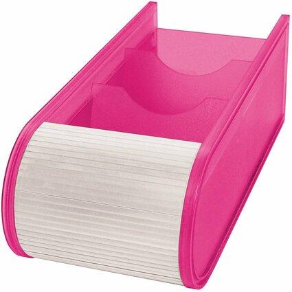 WEDO Lernkartei, DIN A8 quer, inkl. 100 Karteikarten, pink