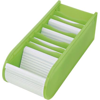 WEDO Lernkartei, DIN A8 quer, inkl. 100 Karteikarten, grün