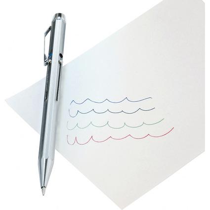 WEDO Vierfarb-Kugelschreiber mit Schiebemechanik, chrom