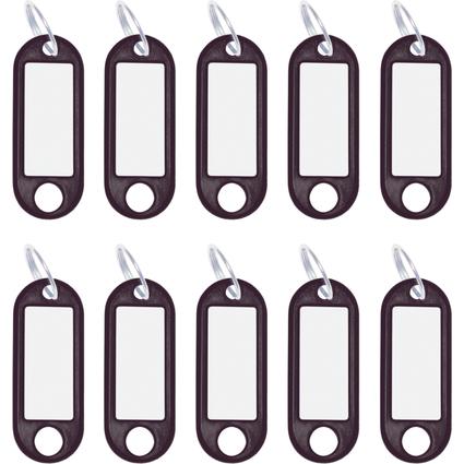 WEDO Schlüsselanhänger mit Ring, Durchmesser: 18 mm, schwarz