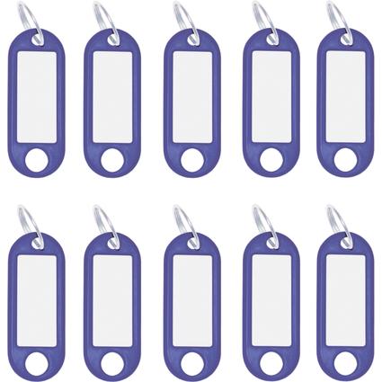 WEDO Schlüsselanhänger mit Ring, Durchmesser: 18 mm, blau