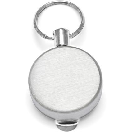 WEDO Gürtel-Clip, mit Befestigungsclip & Nylonschnur, silber