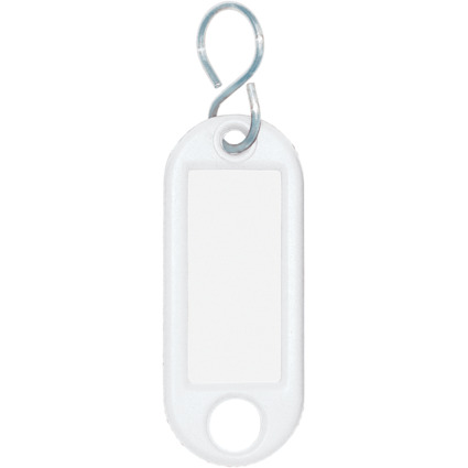 WEDO Schlüsselanhänger S-Haken, weiß, Großpackung