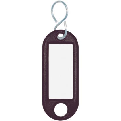 WEDO Schlüsselanhänger S-Haken, schwarz, Großpackung