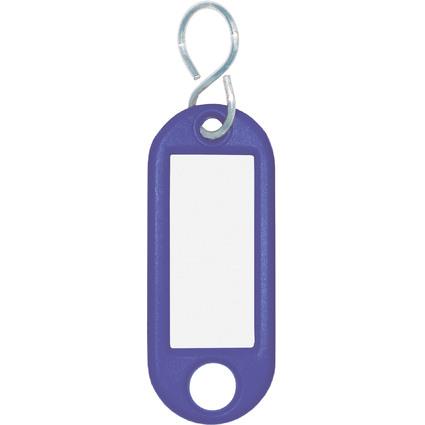 WEDO Schlüsselanhänger S-Haken, blau, Großpackung