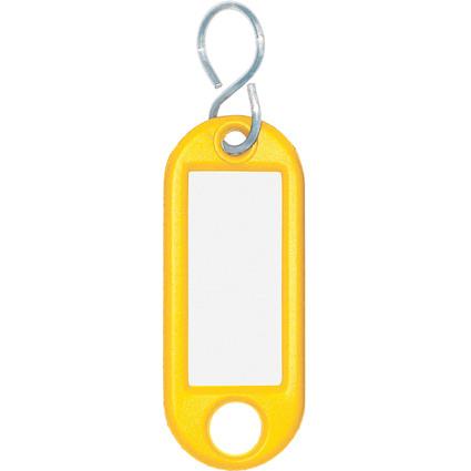 WEDO Schlüsselanhänger S-Haken, gelb, Großpackung