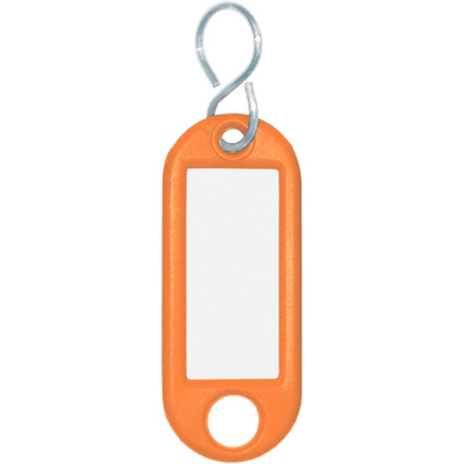 WEDO Schlüsselanhänger S-Haken, orange, Großpackung