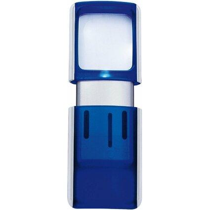 WEDO Rechtecklupe mit LED-Beleuchtung, 15er Display