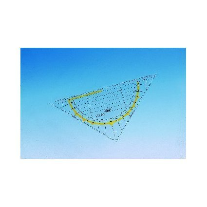 WEDO Geodreieck Standard, Hypotenuse 160 mm, transparent