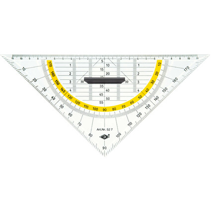 WEDO Geodreieck, Hypotenuse 250 mm, mit abnehmbarem Griff