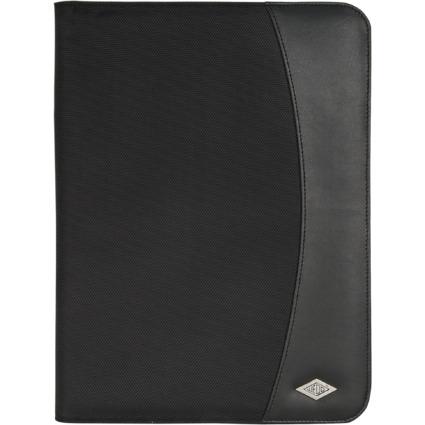 WEDO Schreibmappe Elegance, A4, Kunstleder/Nylon, schwarz